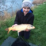 Jordan Smith first carp Damson Match Lake